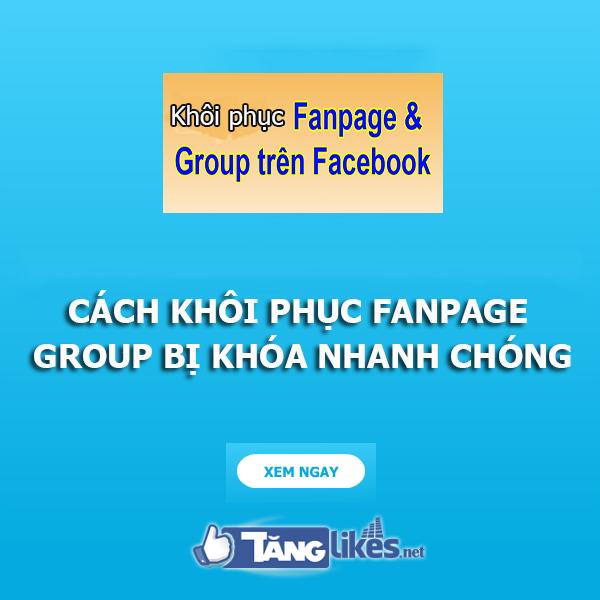 khoi phuc fanpage bi khoa