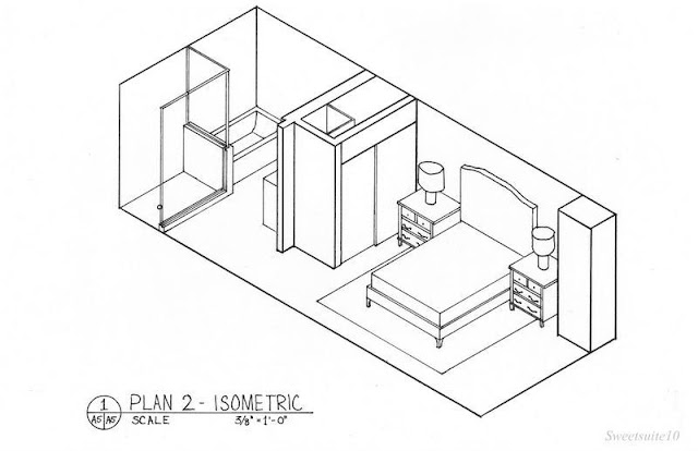 bedroom isometric drawing