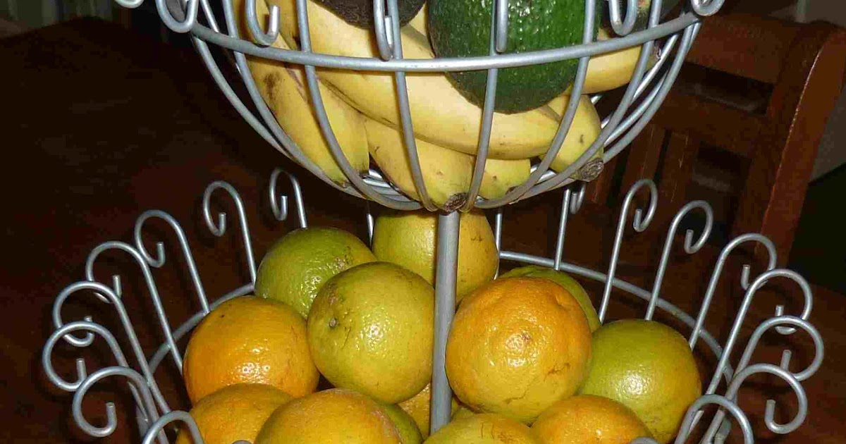 Simpleliving: 2 tiered metal fruit basket