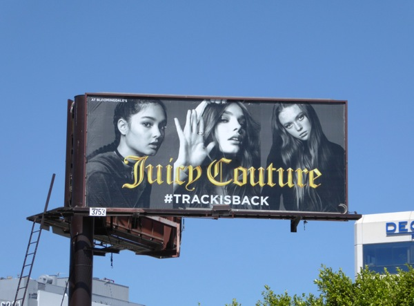 Juicy Couture Track is back Summer 2016 billboard
