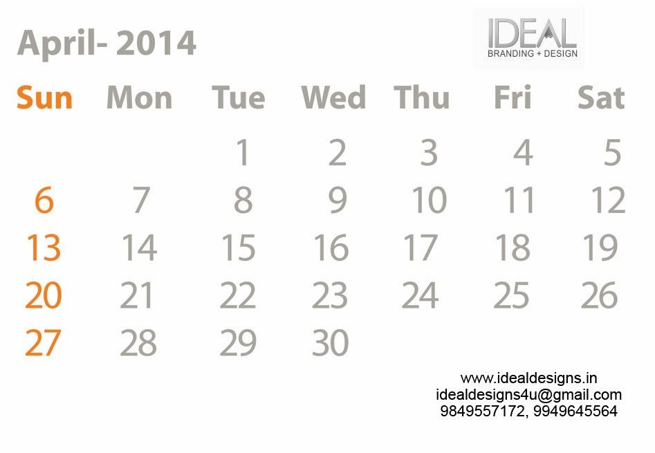 Calendar Design Calendar 2014