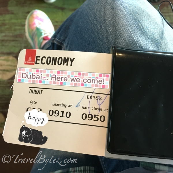 The Experience: On Emirates (Economy) to Dubai from Singapore