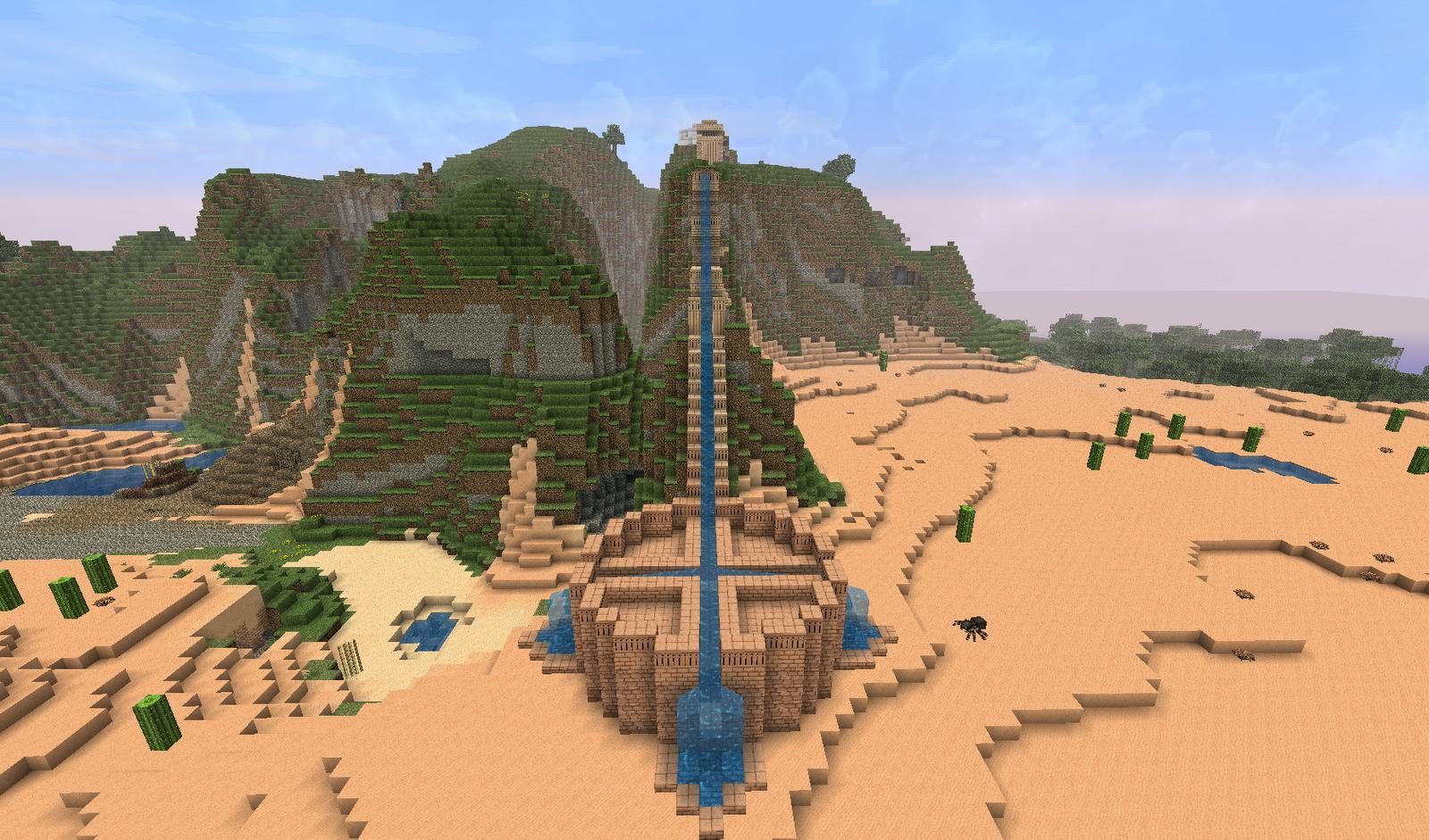 Minecraft Building Ideas: Aqueduct