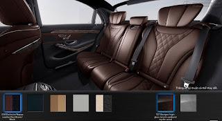 Nội thất Mercedes S450 L Luxury 2018 màu Nâu Nut 514