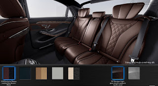 Nội thất Mercedes S500 L 2016 màu Nâu Nut 514