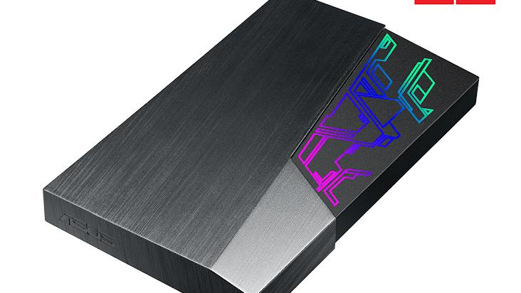 Asus công bố ổ cứng gắn ngoài FX HDD tích hợp công nghệ đèn màu Aura Sync RGB