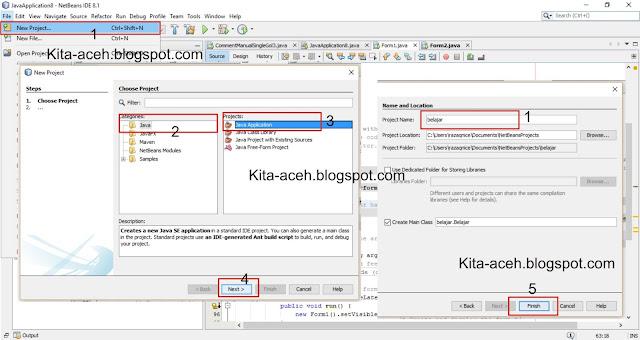 Memanggil JFrame Form Lain di Java