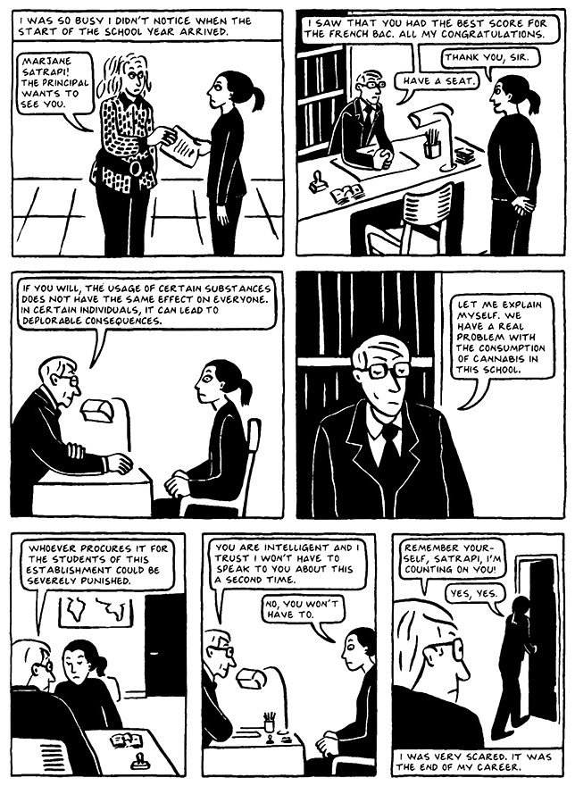 Read Chapter 8 - The Croissant, page 71, from Marjane Satrapi's Persepolis 2 - The Story of a Return