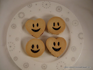 Funny Face Jam and Cream Sandwich Biscuits (Cookies)