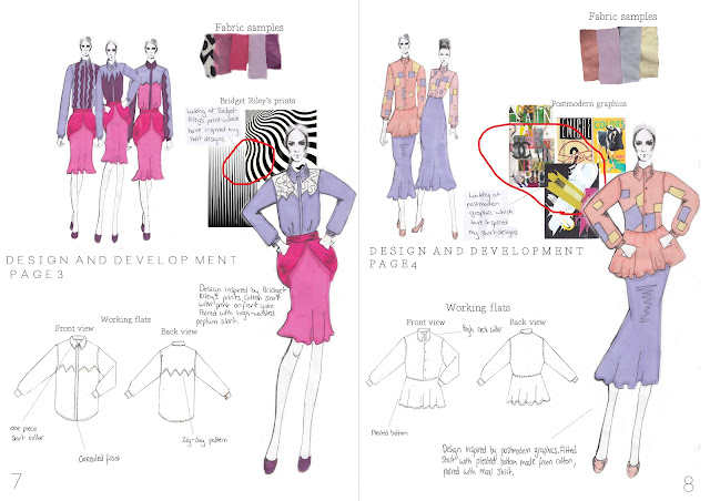 Year 1 Fashion Portfolio 1st Design And Development Pages