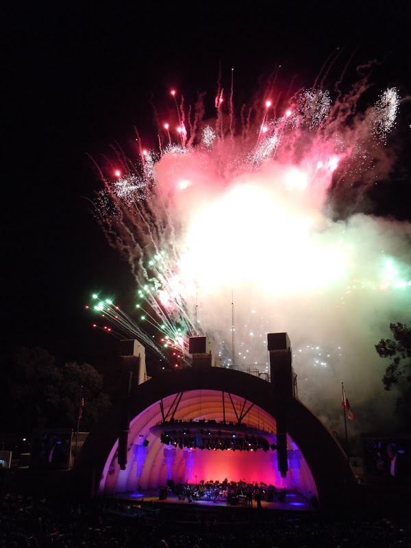 Hollywood Bowl fireworks night