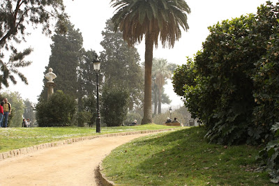 Romantic image of Ciutadella Park