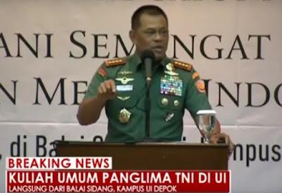 Jenderal Gatot Umumkan Sayembara Berhadiah Rp 100 Juta