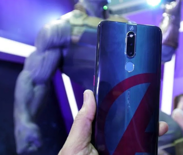 The new OPPO F11 Pro Marvel's Avengers perfect phone superhuman fan t2update.com