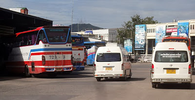 Buses in south Thailand at Hat Yai