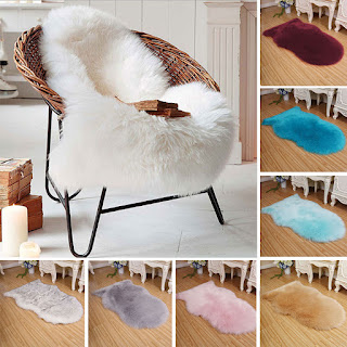 white fur rugs