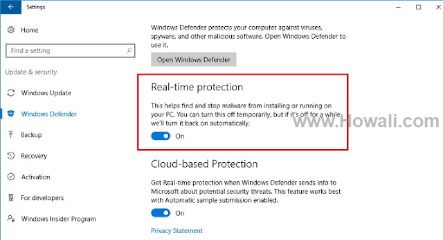 How to disable or turn off Windows defender in Windows 10, 8 or 7
