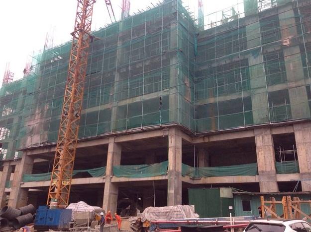Tabudec plaza hiện đã thi công tầng 8 - đổ sàn tầng 7
