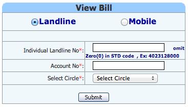 print bsnl landline bill