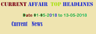 Current Affair 01-05-2018 to 13-05-2018