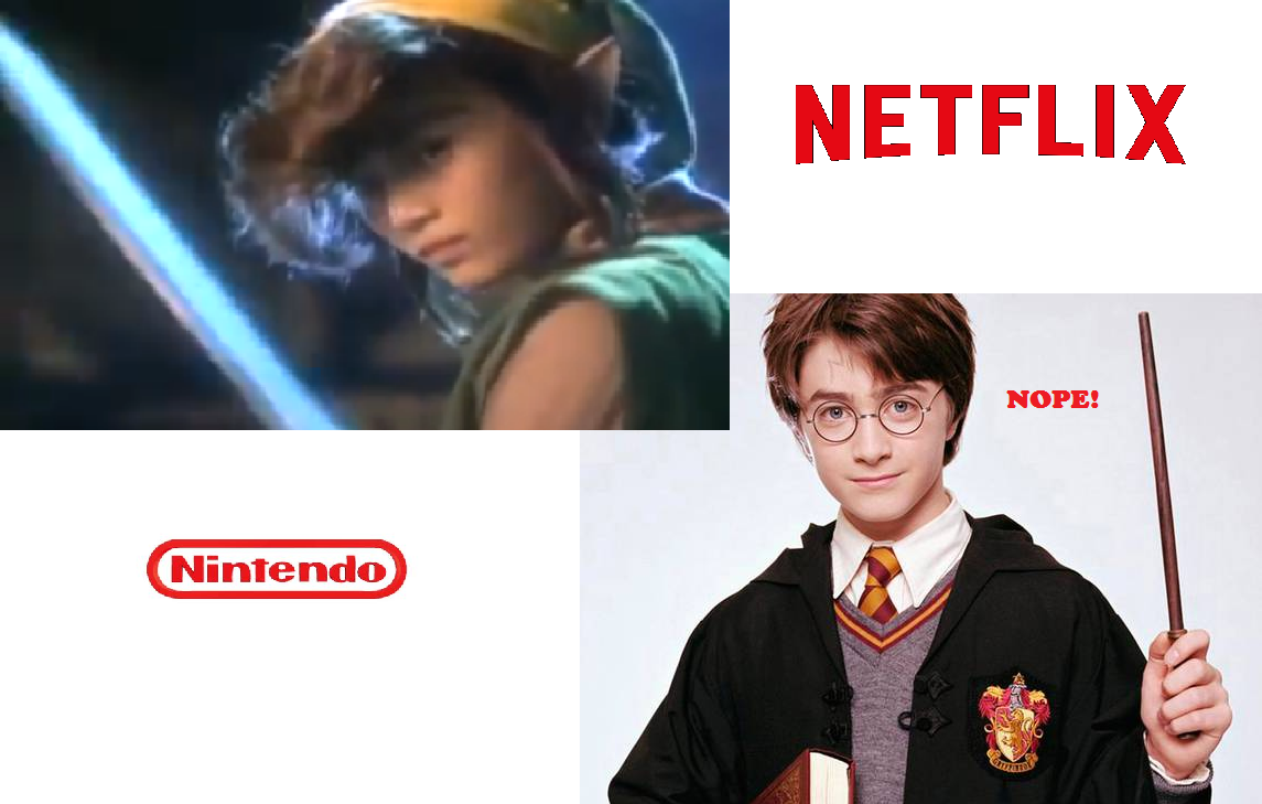 Legend of Zelda Netflix Nintendo Link Harry Potter