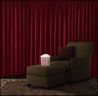Velvet Blackout Curtain - home theater curtains  Movie themed bedrooms - home theater design ideas - Hollywood style decor - movie decor -  Film decor - home cinema decor - movie theater decor - Home Theater Curtains - cabinet knobs movie theater - movie themed decorating ideas - movie props - designing a home theater room -  decorating home theater ideas -