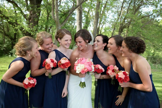 Emily, Tyler and their Beautiful Coral and Navy Wedding at Jasper Winery