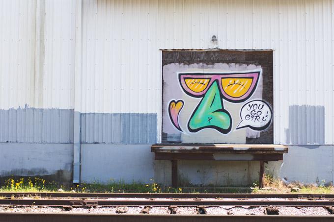 hugo girl, New Orleans, graffiti