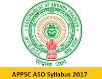 APPSC ASO Syllabus 2017