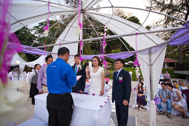 registration of marriage at beach