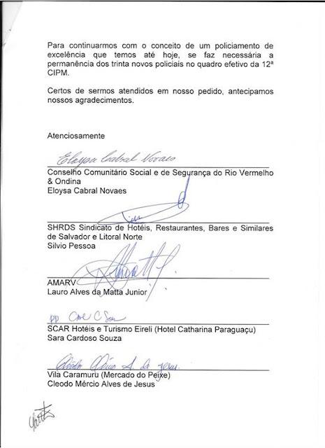 Entidades pedem permanência de 30 soldados na 12ª CIPM para reforçar a segurança no Rio Vermelho e Ondina