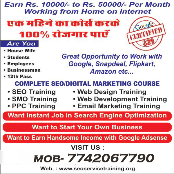 SEO COURSE TRAINING INSTITUTE IN PRATAP NAGAR JAIPUR