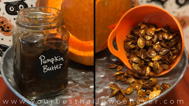 pumpkin butter, pumpkin seeds