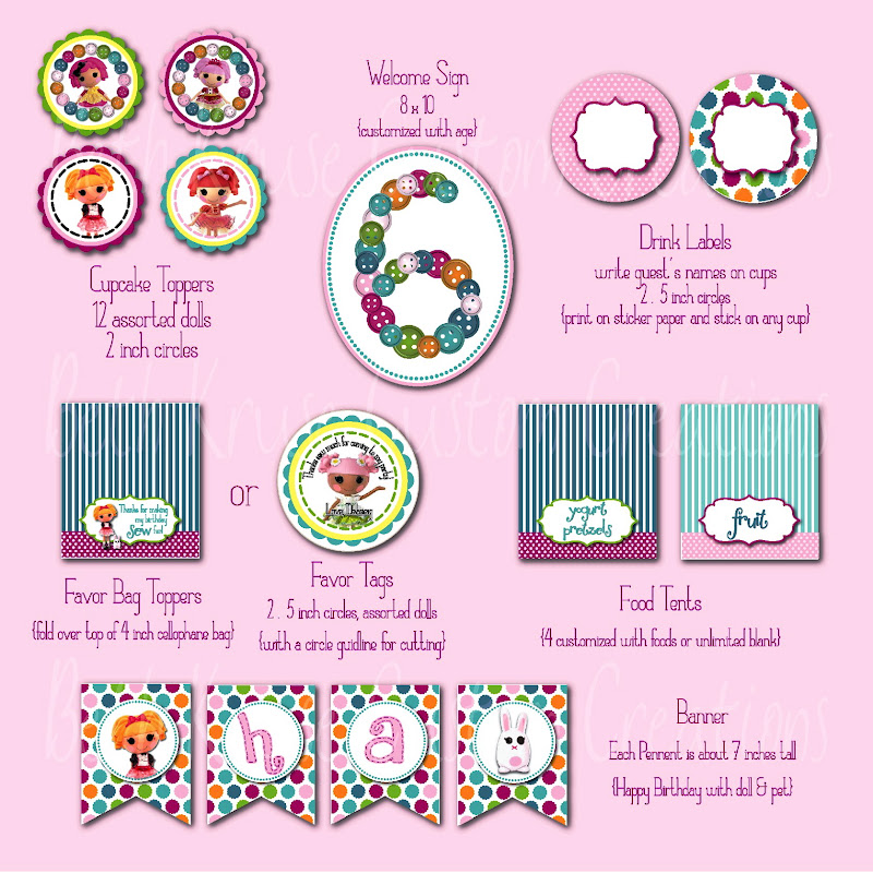 Beth Kruse Custom Creations they are herelalaloopsy printables!
