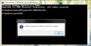 Mengatasi TABCTL32.OCX yang Error