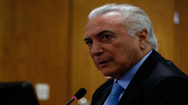 PF vê propina de R$ 5,9 milhões para o presidente Michel Temer