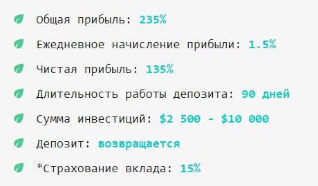 Инвестиционные планы Menthol 3