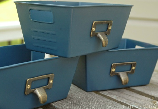 Easily transform Dollar Tree plastic pins into the perfect industrial storage!