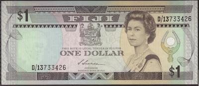 Fiji 1 Dollar 1987 P# 80