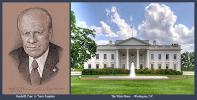 Gerald R. Ford, 33°. 38th President of the United States. Freemason. The White House. by Travis Simpkins