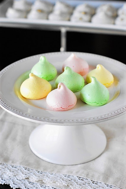 Perfect-for-Spring Pastel Meringue Cookies {Choose Your Flavor} image