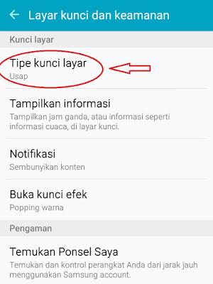 cara mengunci layar handphone samsung dengan kata sandi
