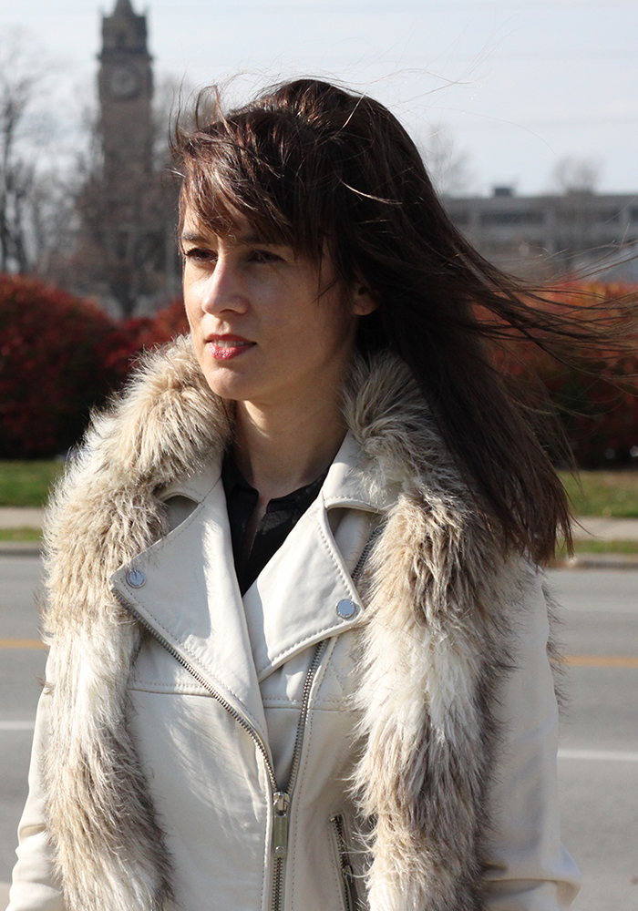 faux fur, leather jacket, what to wear winter, winter white