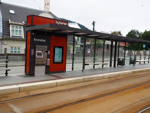 zastávka, tramvajová zastávka, Bergen, doprava, Norsko