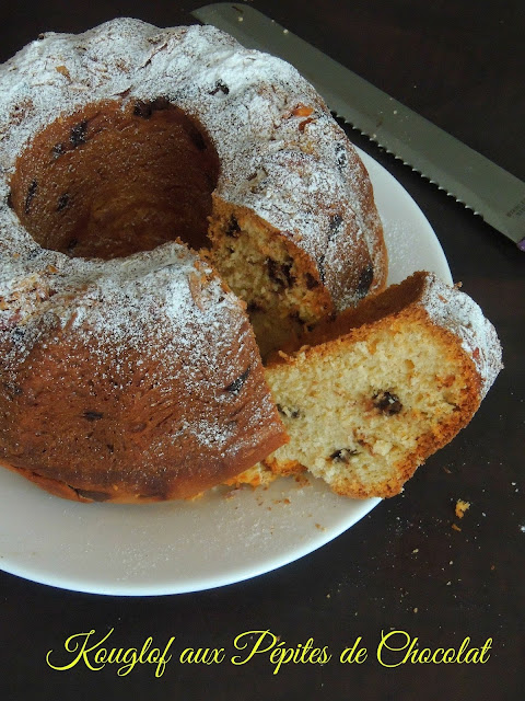 Kugelhopf with Chocolate Chips,Kouglof aux Pépites de Chocolat,