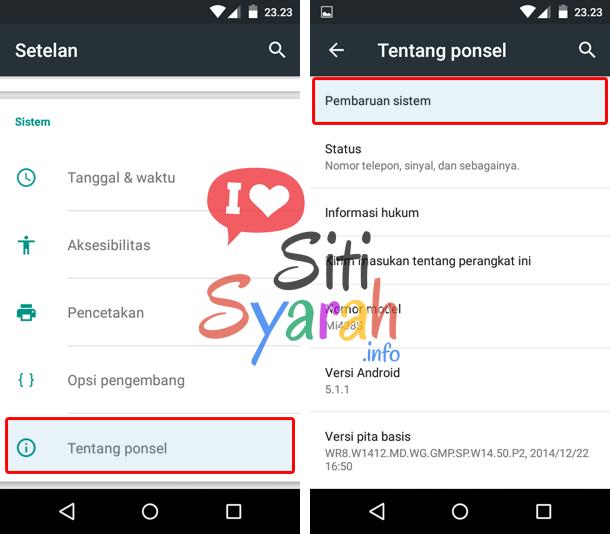 upgrade Android ke versi terbaru tanpa pc