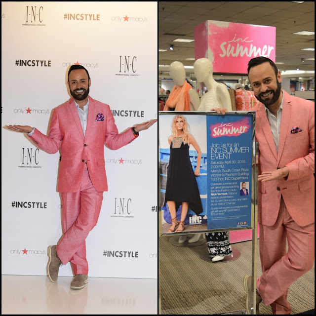 NICK HOSTS.....BLOG RECAP of HOSTING the Macy's INC Summer Event at Macy's South Coast Plaza