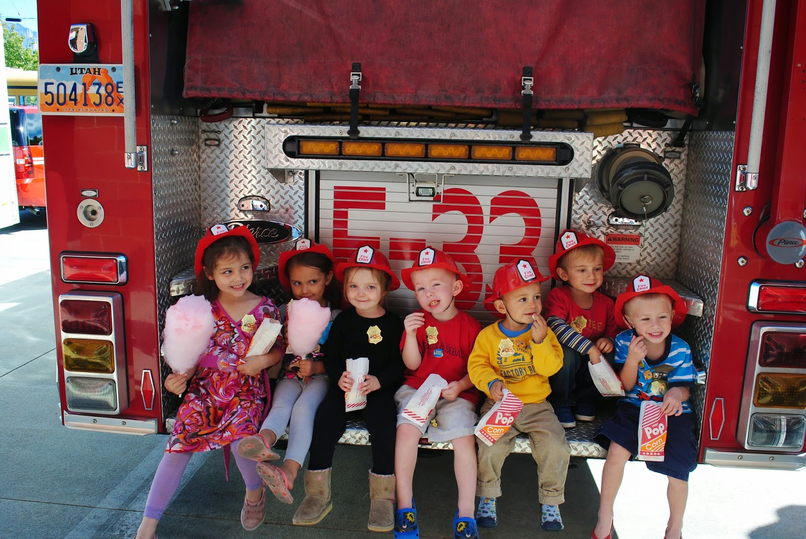 Jared And Heidi Smith Kaleigh Hagen Sidney Calvin Fire Station Preschool Field Trip Activity