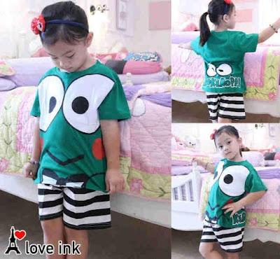 Jual Baju Anak Perempuan Setelan Keroppi (Kids) - 12303