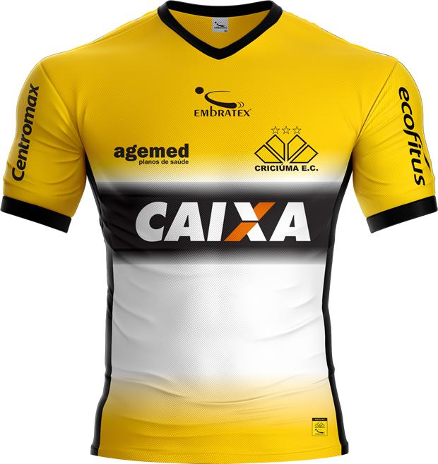 b63d7ed93f Embratex lança as novas camisas do Criciúma - Show de Camisas